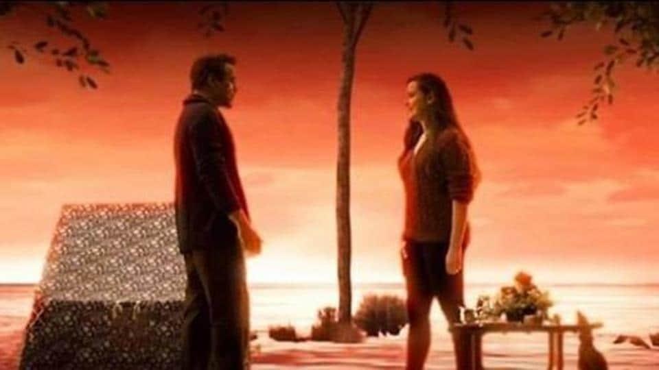 Robert Downey Jr and Kathrine Langford in deleted scene from Avengers Endgame.