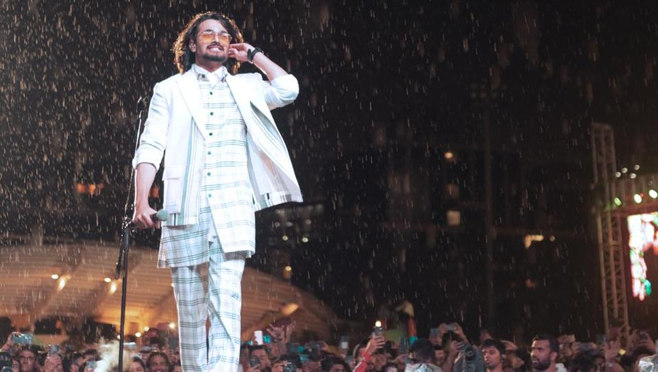 Bhuvan Bam during a live performance.