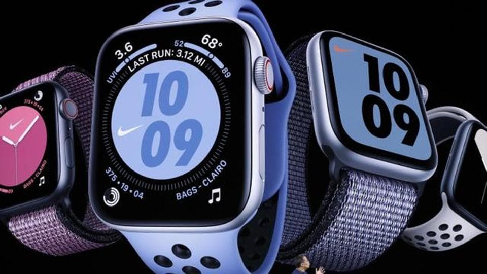 Stan Ng presents the new Apple Watch at an Apple event at their headquarters in Cupertino, California, U.S. September 10, 2019.