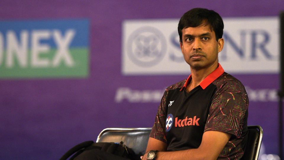 Indian Badminton coach Pullela Gopichand during India Open 2019, at KD Jadhav Indoor Stadium, in New Delhi.