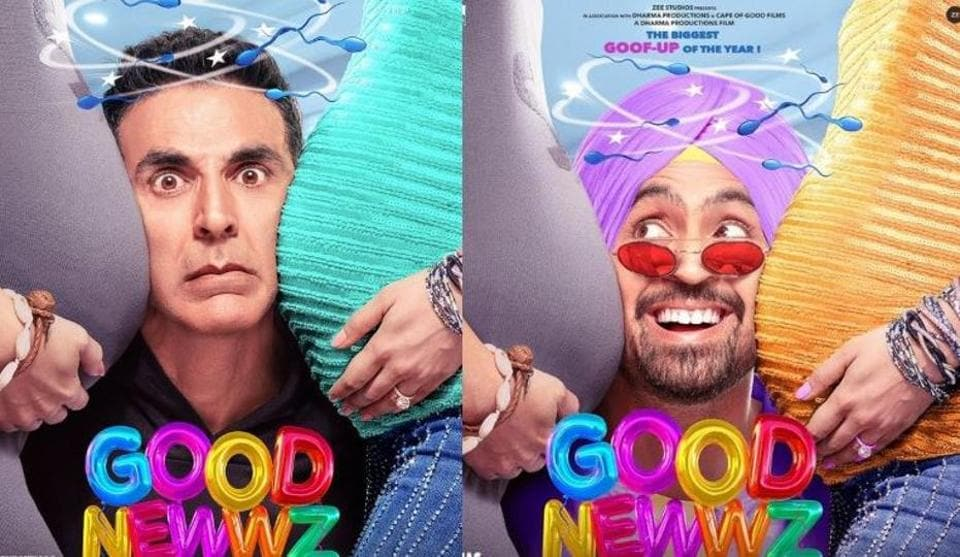 Good Newwz posters: Akshay Kumar, Diljit Dosanjh feature in first look from the December release.