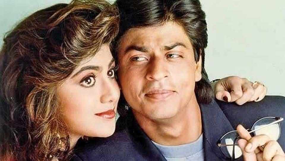 Shah Rukh Khan and Shilpa Shetty in Baazigar.