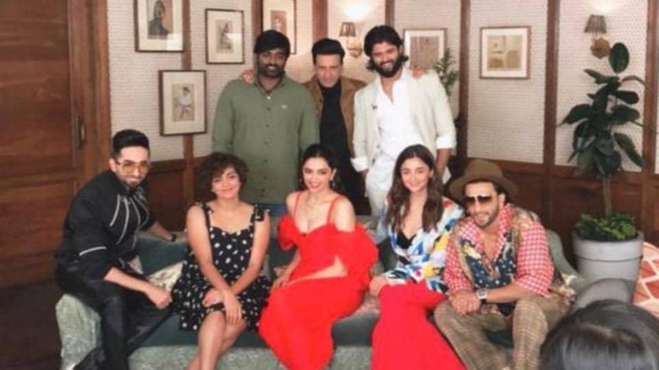 Actors Deepika Padukone Ranveer Singh, Ayushmann Khurrana, Vijay Sethupathi among others came together for an event recently.