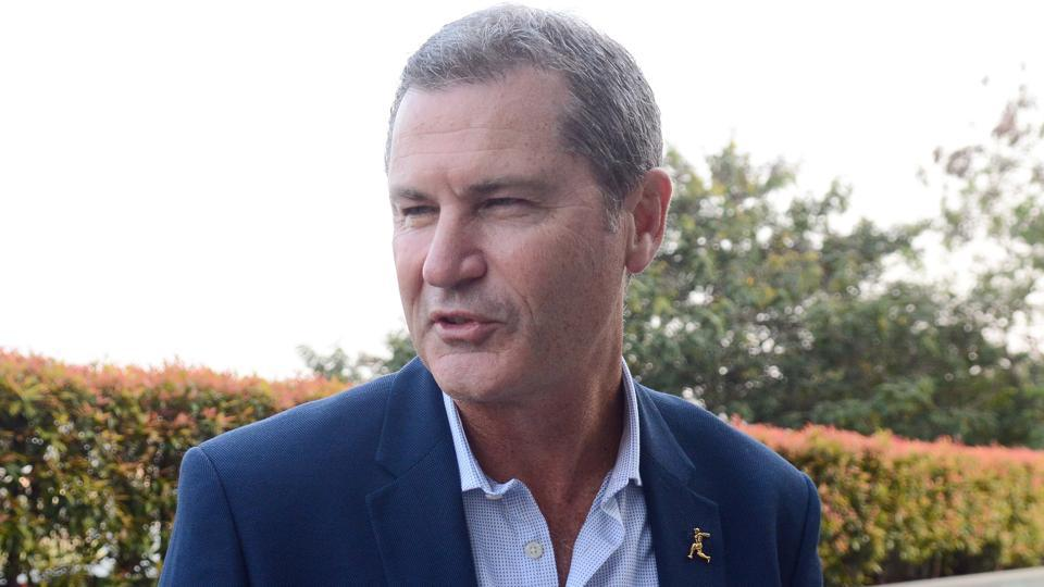 Simon Taufel at Trump Towers on Wednesday.