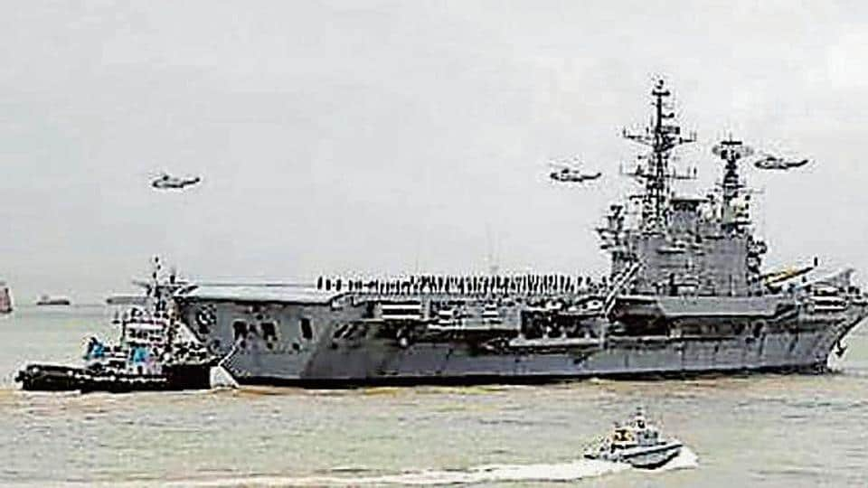INS Viraat was towed to Mumbai from Kochi in October.