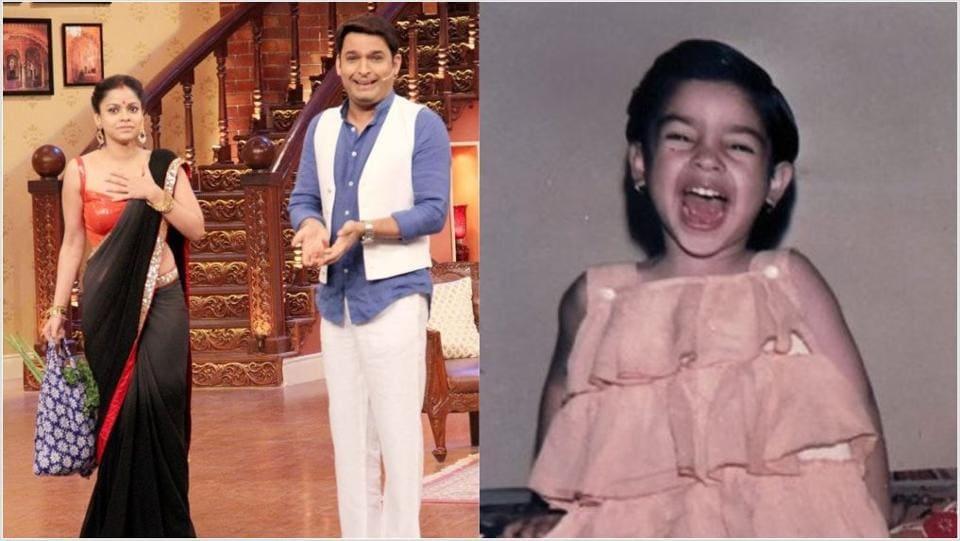 Kapil Sharma and Sumona Chakravarti are seen together on The Kapil Sharma Show.