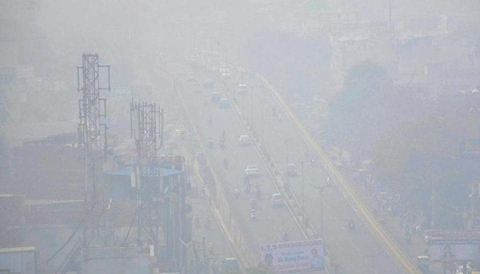 A dense smog cover over Ghaziabad. The Uttar Pradesh city remained the most polluted in the country for three consecutive days after Diwali.