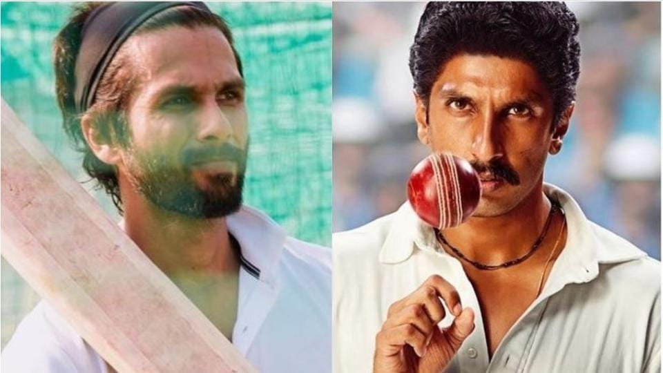 Shahid Kapoor and Ranveer Singh plays cricketers in Jersey and 83, respectively.