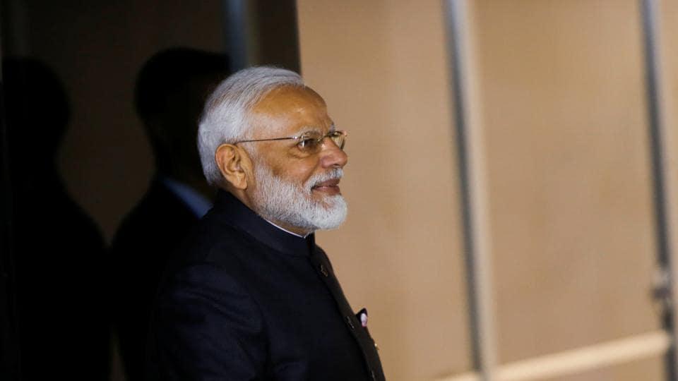 Indian Prime Minister Narendra Modi arrives at the Itamaraty Palace, in Brasilia, Brazil on November 13.