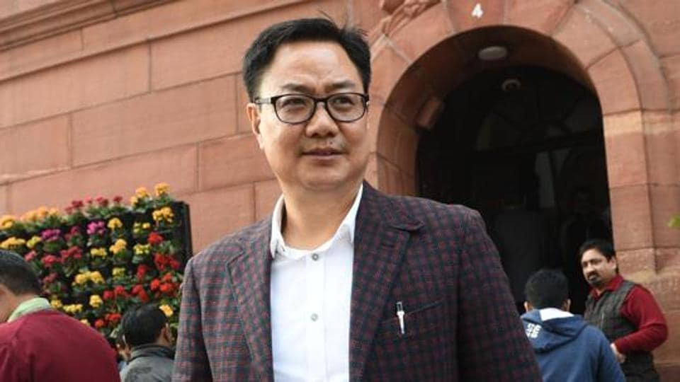 File photo of Kiren Rijiju.