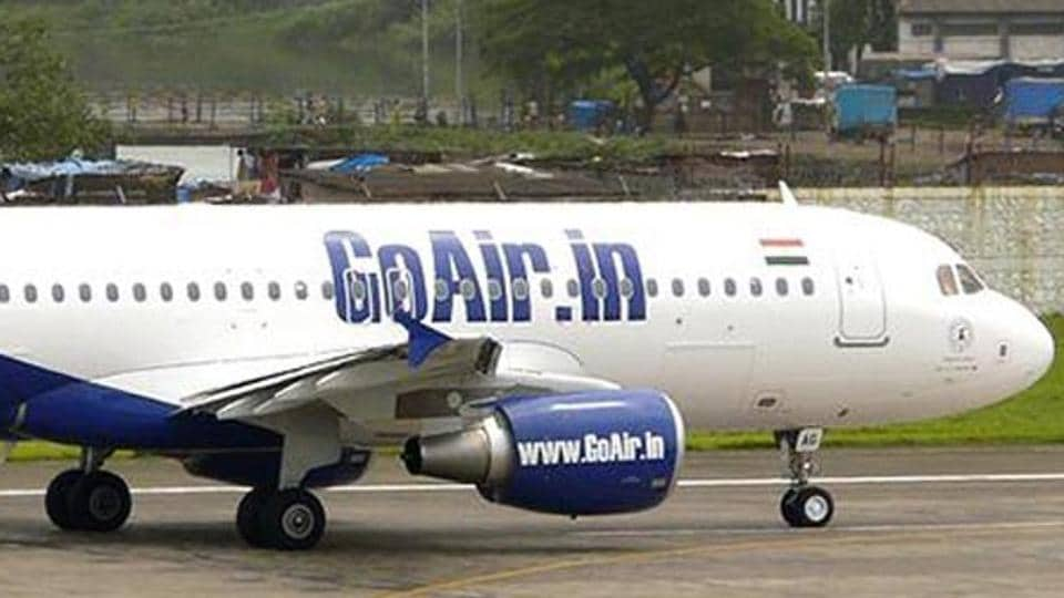 A major mishap was averted at the Bengaluru airport on Monday when GoAir flight from Nagpur carrying 180 passengers landed outside the runway in bad weather conditions.