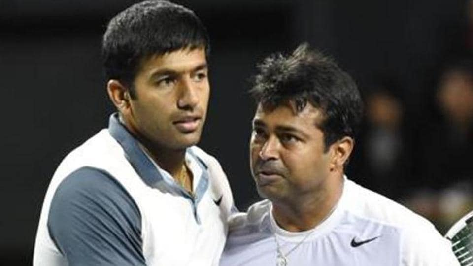 File image of Rohan Bopanna and Leander Paes.