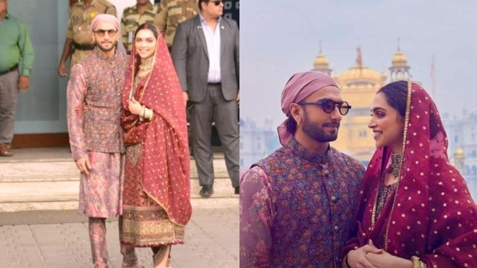 Deepika Padukone, Ranveer Singh visited the Golden Temple in Amritsar on Friday and returned to Mumbai  the same day.