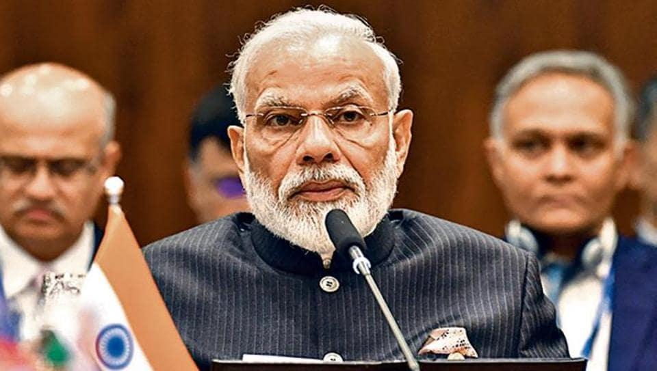 Prime Minister Narendra Modi addressing the Plenary session of the 11th BRICS Summit in Brasilia on Thursday.