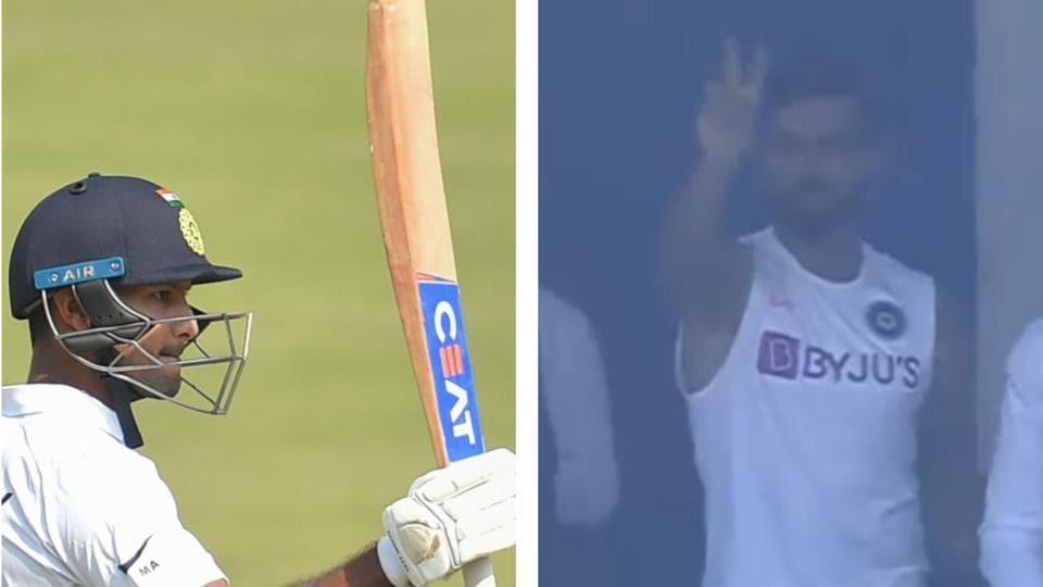 MayankAgarwal scored a double ton.