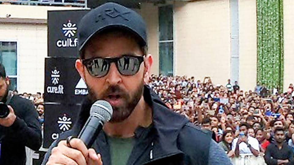 Hrithik Roshan during the event at Embassy Tech Village, in Bengaluru.