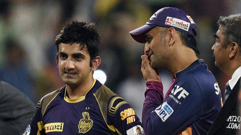 MS Dhoni (R) and Gautam Gambhir (L) in an IPL match (File Photo)