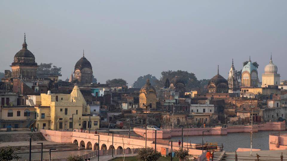 A general view of Ayodhya is seen after Supreme Court's verdict on a disputed religious site, India, November 10, 2019. REUTERS/Danish Siddiqui