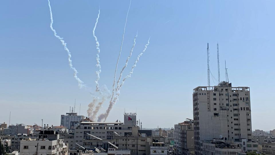 Trails of smoke are seen as rockets are fired from Gaza towards Israel, in Gaza. The worst fighting in months erupted on Tuesday after Israel killed Abu Al-Atta, a senior commander of the Iran-backed Islamic Jihad militant group, accusing him of masterminding and planning attacks against Israel. (Suhaib Salem / REUTERS)