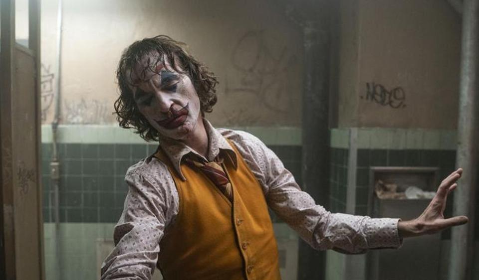 Joaquin Phoenix in a still from Joker.