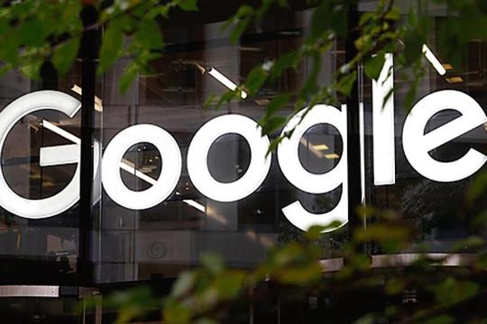In this Nov. 1, 2018, file photo, the Google logo at their offices in Granary Square, London.