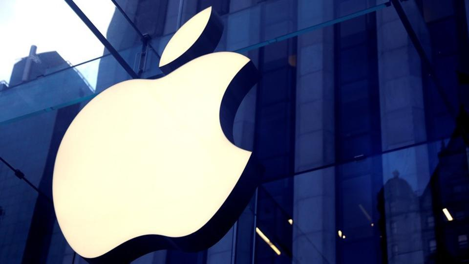The Apple Inc. logo is seen hanging at the Apple store on 5th Avenue in Manhattan, New York, U.S., October 16, 2019.