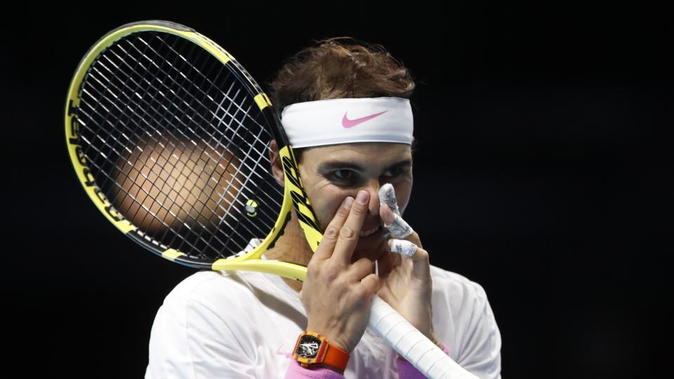 Rafael Nadal  during the ATP World Tours Finals.