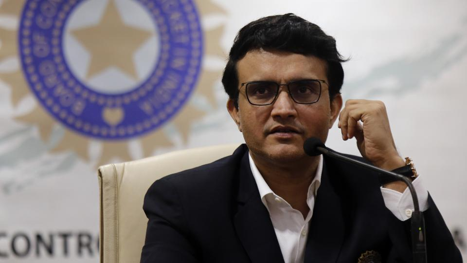 President of the Board of Control for Cricket in India (BCCI) Sourav Ganguly.