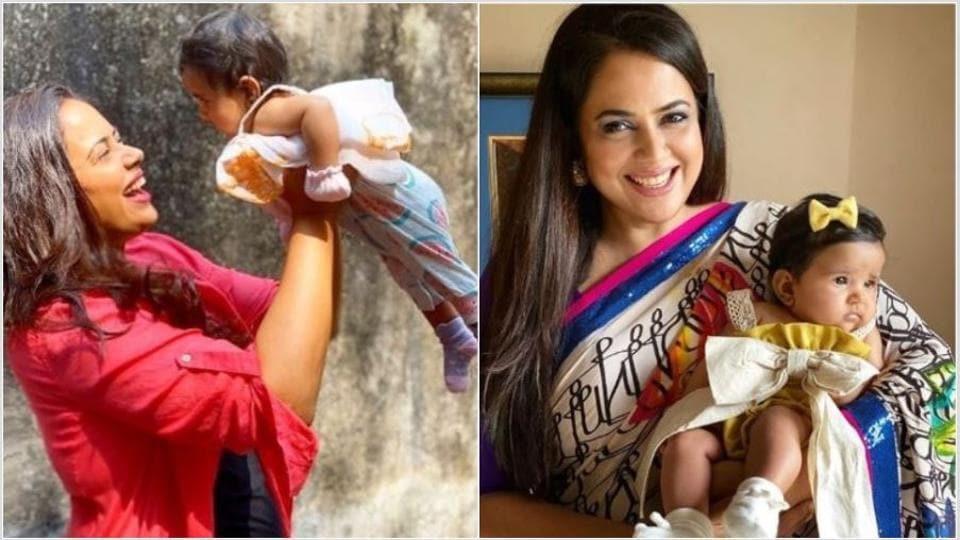 Sameera Reddy welcomed daughter Nyra in July.