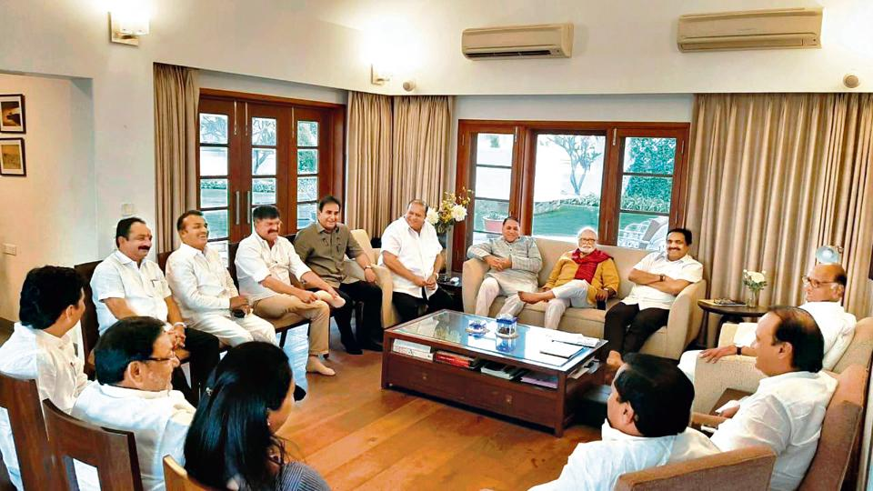 The core committee meeting, held for more than two hours at Sharad Pawar's Modi Baug residence in Pune, was attended by senior party leaders including Ajit Pawar, Jayant Patil, Chhagan Bhujbal, Jitendra Awhad, Nawab Malik, Dhananjay Munde, Supriya Sule and Sunil Tatkare.