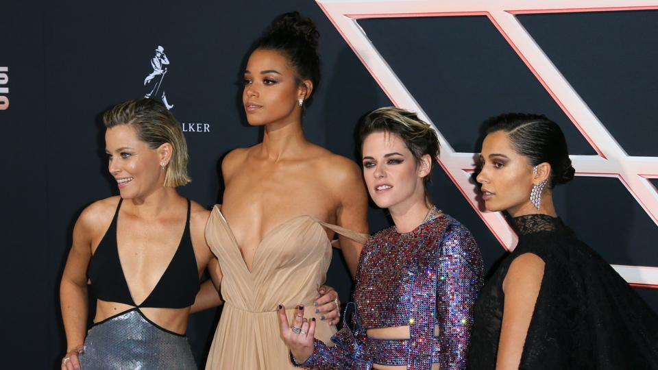 Elizabeth Banks, Ella Balinska, Kristen Stewart and Naomi Scott arrive for the World Premiere of Charlie's Angels.
