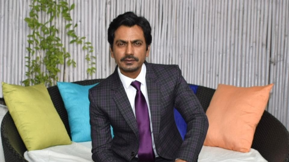 Nawazuddin Siddiqui at a photoshoot and interview during the promotions for Motichoor Chaknachoor.