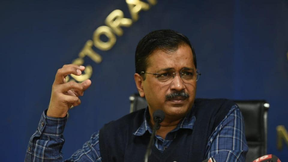 Chief minister Arvind Kejriwal address a press conference on Monday in New Delhi