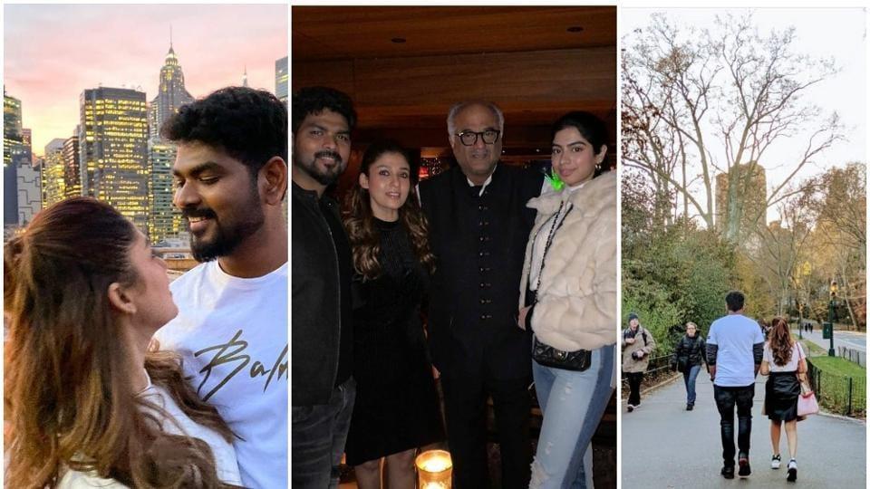 Nayanthara spent her birthday with boyfriend Vignesh Shivn in New York.