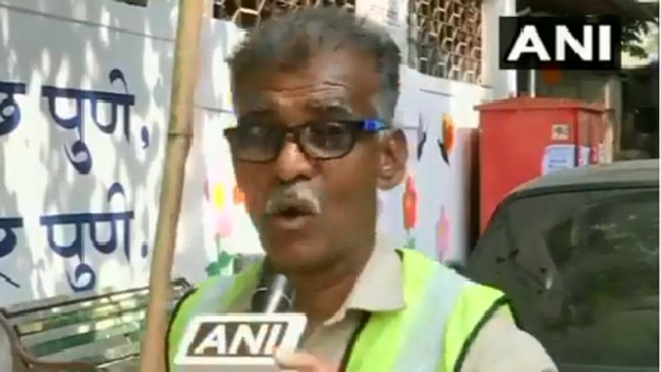 Besides being a cleaning worker, Jadhav himself has composed different songs on cleaning, which he plays in front of people every day in the morning.