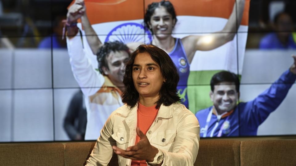 Wrestler Vinesh Phogat during her interview at Hindustan Times headquarters, in New Delhi, India, on Sunday, November 17, 2019.