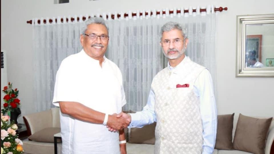 External Affairs Minister S Jaishankar met Sri Lankan President Gotabaya Rajapaksa.