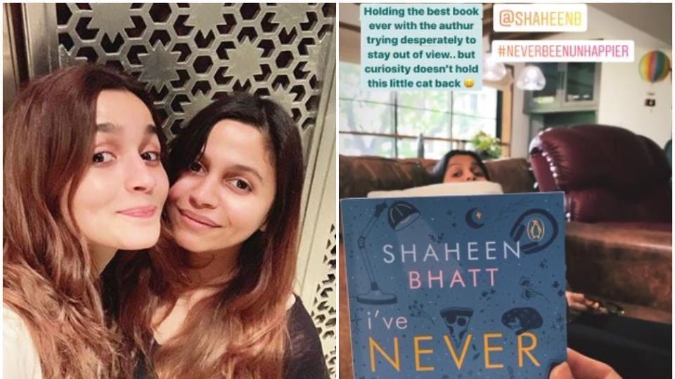 Alia Bhatt with her sister Shaheen Bhatt.