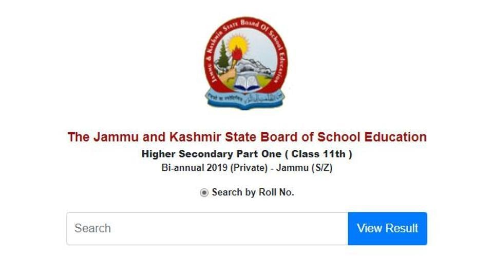 JKBOSE has declared the results of class 11 bi-annual exams for jammu private students. (Screengrab)