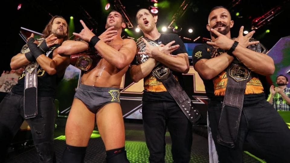 A file photo of Adam Cole, Roderick Strong, Kyle O'Reilly and Bobby Fish.