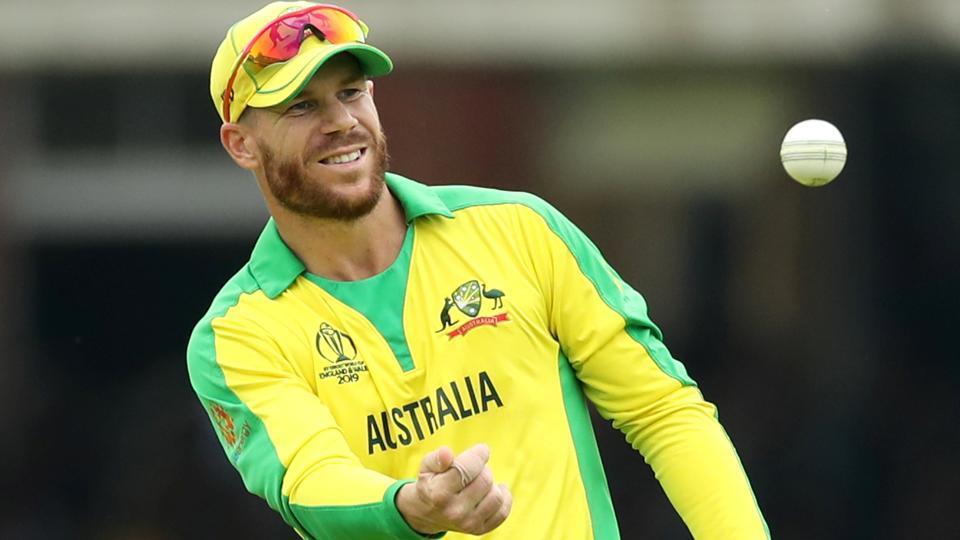 Australia's David Warner in action.