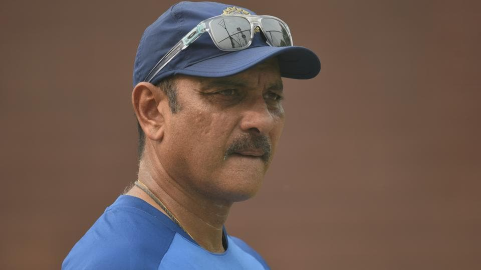 Ravi Shastri during a practice session.
