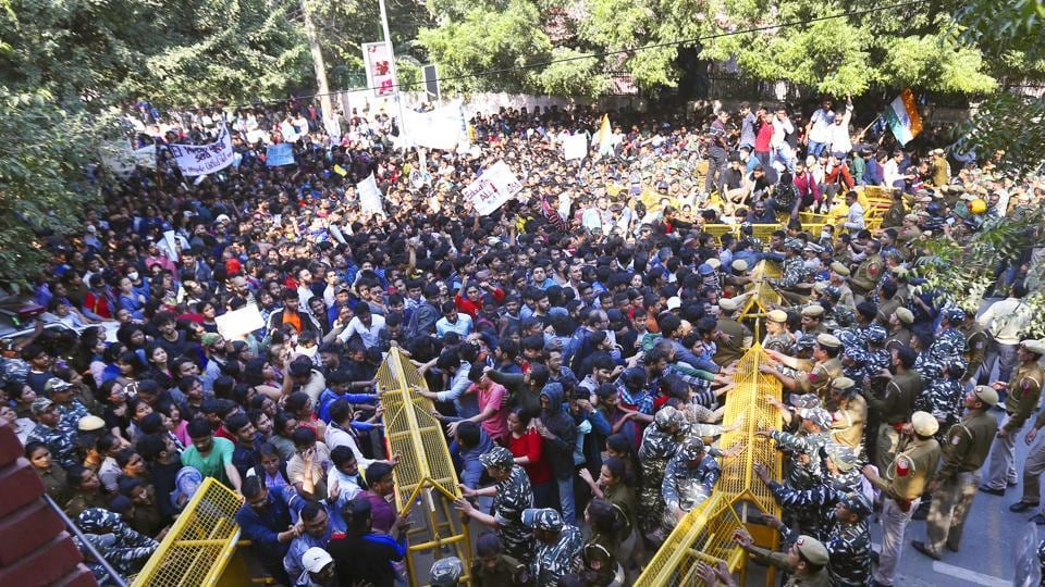 Hundreds of JNU students rocked the national capital on Monday, bringing several parts of the city to a halt.
