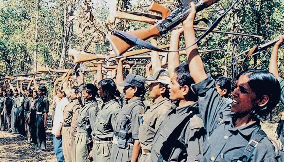 File photograph of Maoists  at a training camp .
