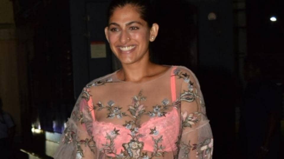 Kubbra Sait at the screening of The Sky Is Pink in Mumbai.