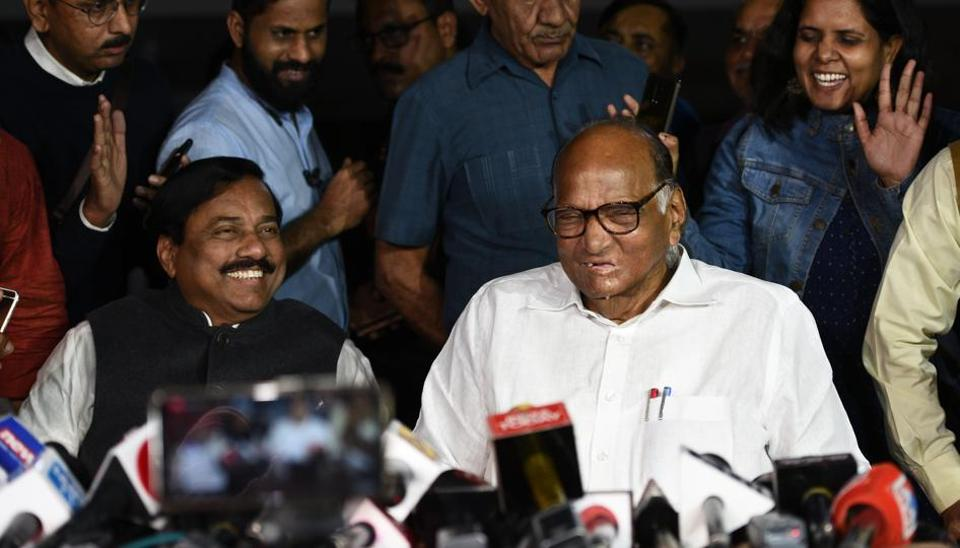Sharad Pawar's cryptic replies to mediapersons after his meeting with Gandhi indicate that the Maratha strongman is trying to keep his cards close to his chest to bargain more with the Sena or possibly ward off pressure from the BJP.