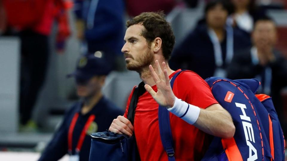 Britain's Andy Murray during the China Open.