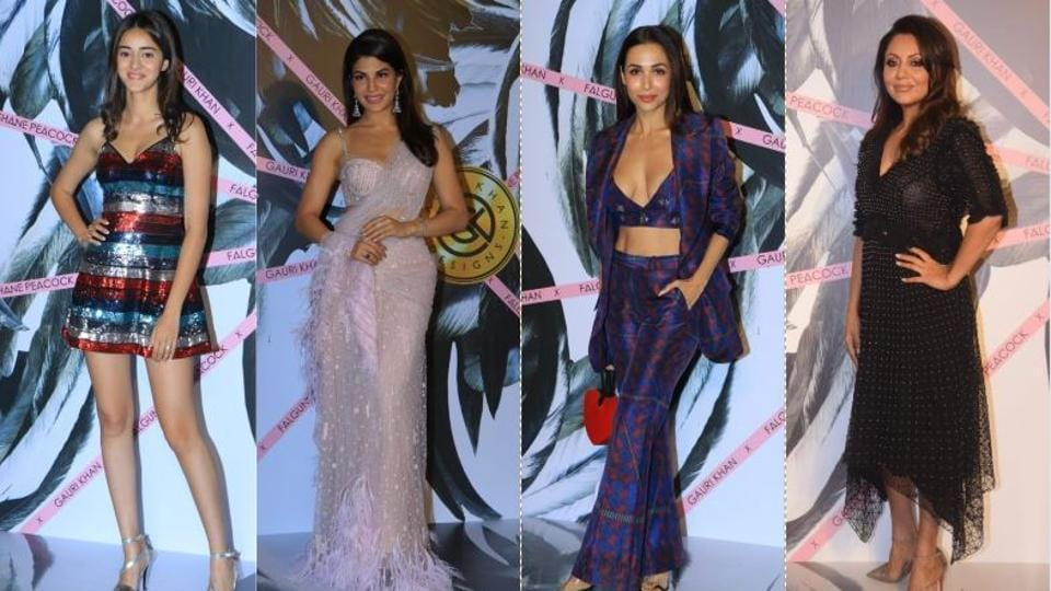 Ananya Panday, Jacqueline Fernandez, Malaika Arora attended a store launch designed by Gauri Khan on Tuesday.