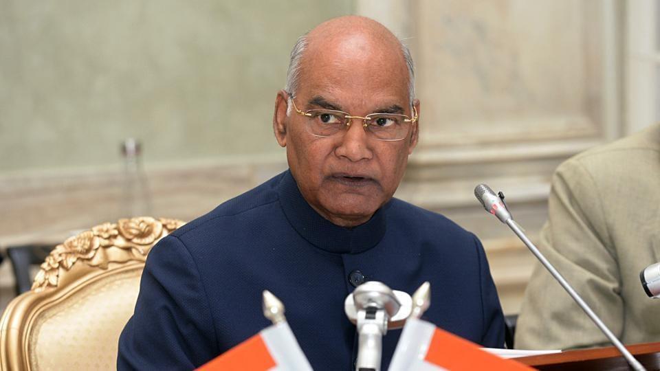 President Ram Nath Kovind at Rashtrapati Bhavan, in New Delhi on Tuesday. (ANI Photo)