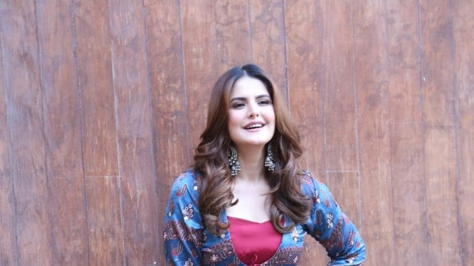Zareen Khan during the promotions of Daaka.